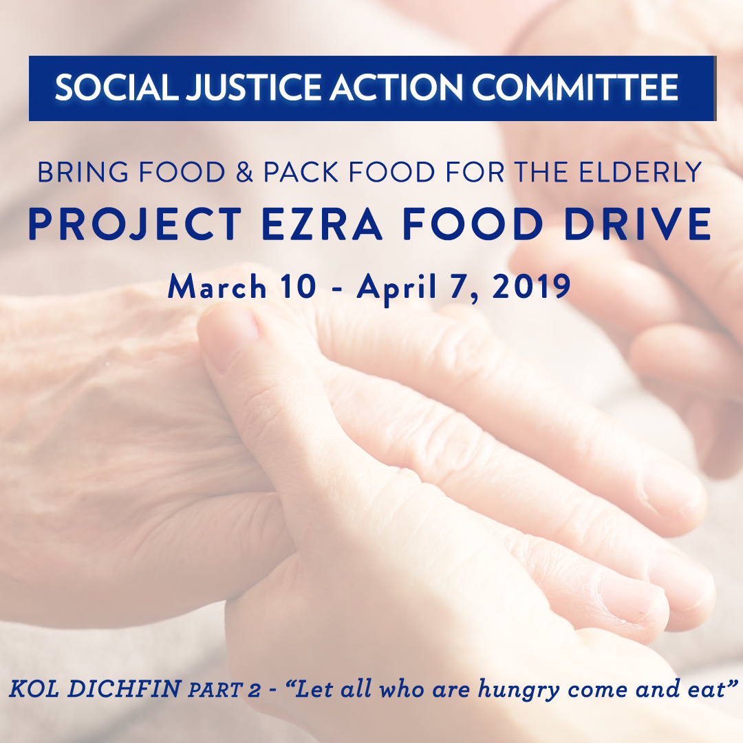 Spring into the WJC/Project Ezra Passover Food Drive