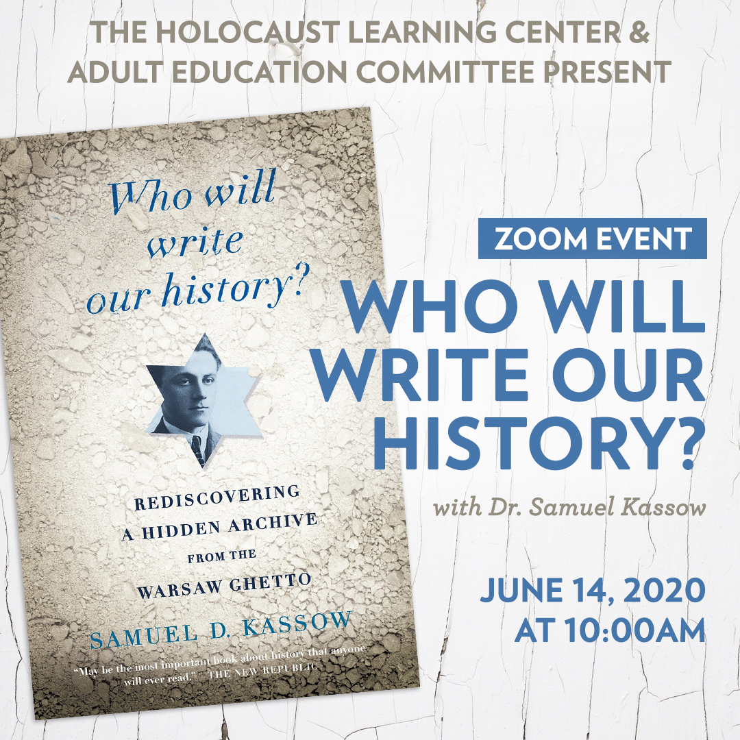 """WJC presents """"Who Will Write Our History?"""""""
