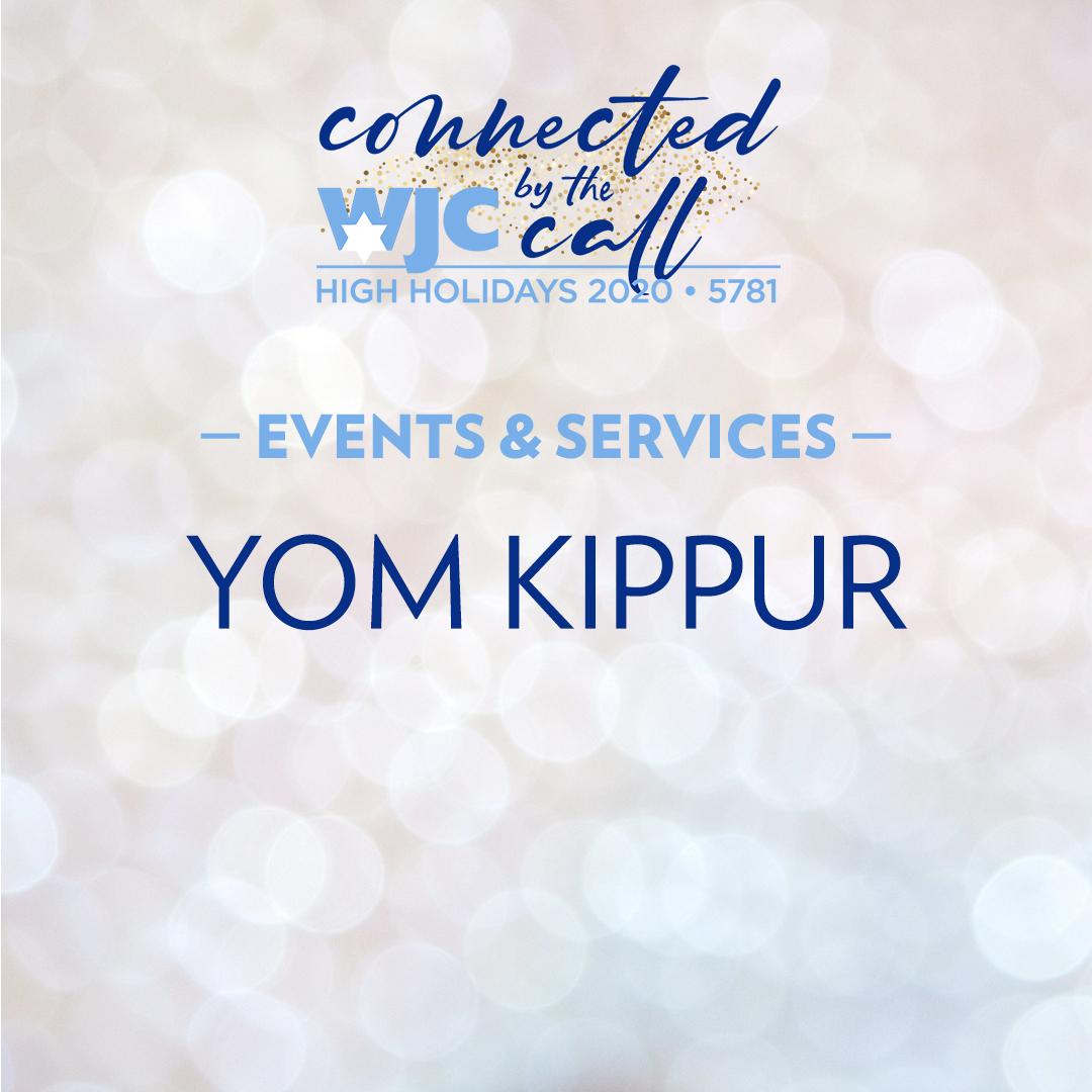 Yom Kippur 2020 Services & Programs