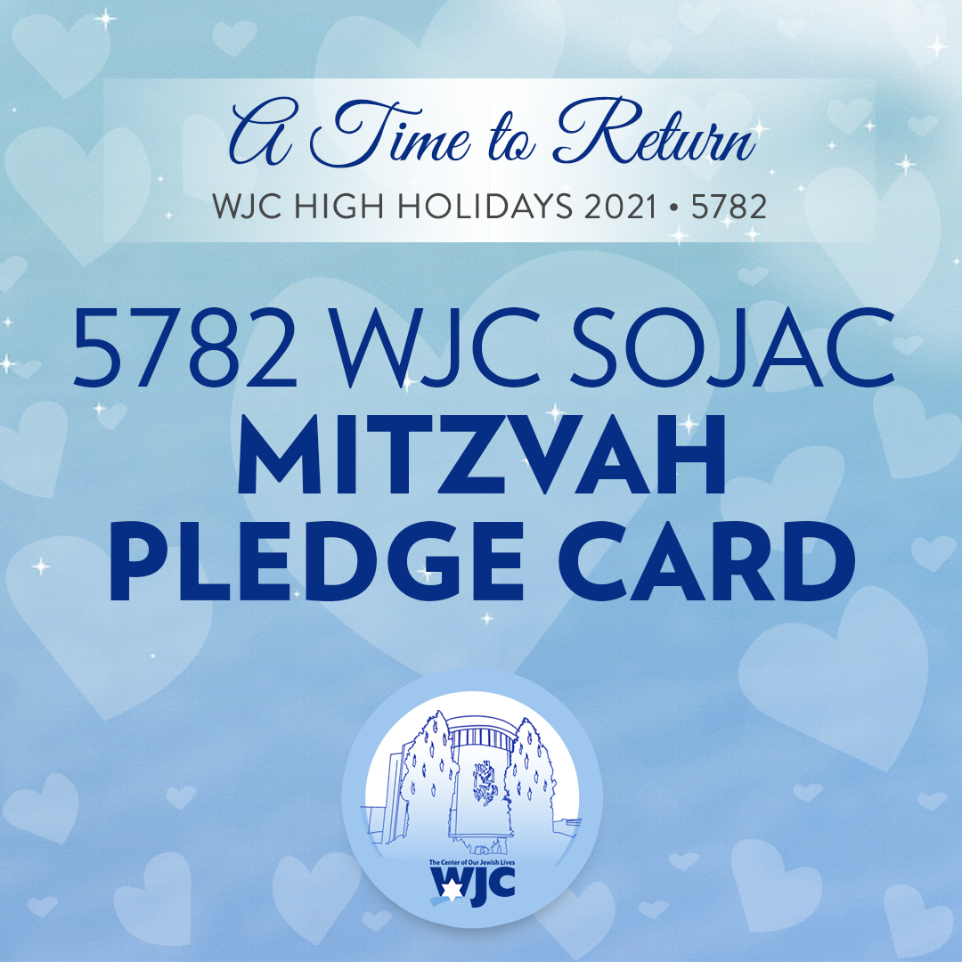 Mitzvah Pledge and Participation Cards